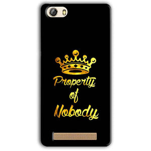 Gionee M5 Lite Mobile Covers Cases Property of nobody with Crown - Lowest Price - Paybydaddy.com