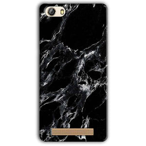 Gionee M5 Lite Mobile Covers Cases Pure Black Marble Texture - Lowest Price - Paybydaddy.com