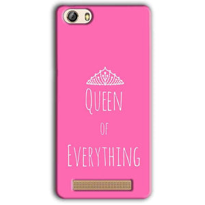 Gionee M5 Lite Mobile Covers Cases Queen Of Everything Pink White - Lowest Price - Paybydaddy.com