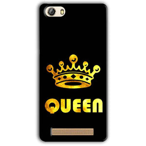 Gionee M5 Lite Mobile Covers Cases Queen With Crown in gold - Lowest Price - Paybydaddy.com