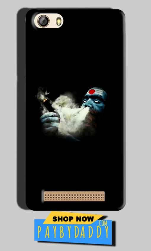 Gionee M5 Lite Mobile Covers Cases Shiva Aghori Smoking - Lowest Price - Paybydaddy.com