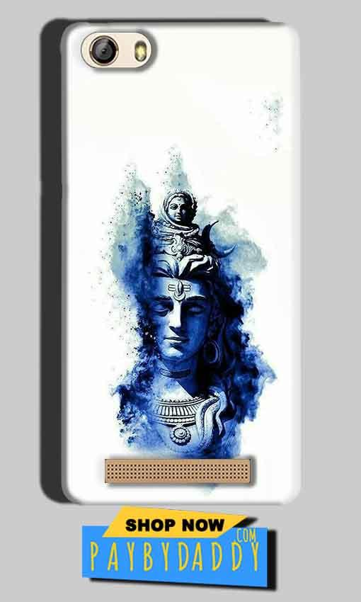 Gionee M5 Lite Mobile Covers Cases Shiva Blue White - Lowest Price - Paybydaddy.com