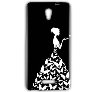Gionee Marathon M4 Mobile Covers Cases Butterfly black girl - Lowest Price - Paybydaddy.com