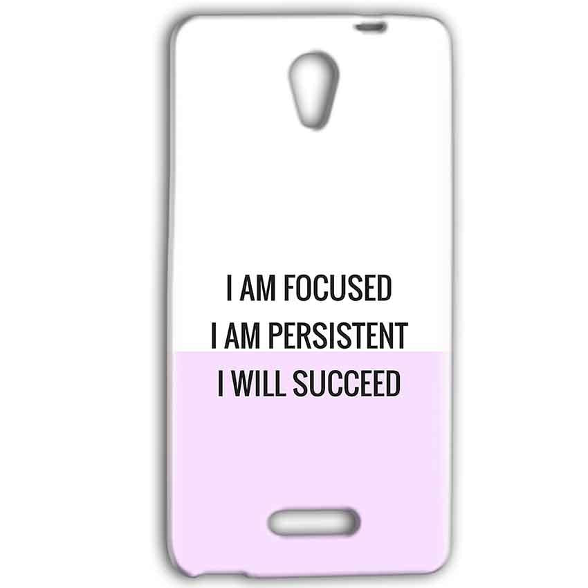 Gionee Marathon M4 Mobile Covers Cases I am Focused - Lowest Price - Paybydaddy.com