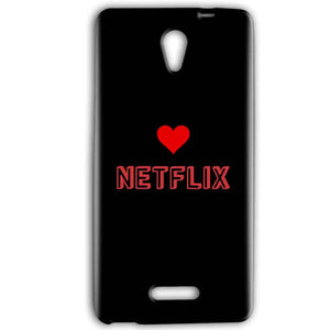 Gionee Marathon M4 Mobile Covers Cases NETFLIX WITH HEART - Lowest Price - Paybydaddy.com