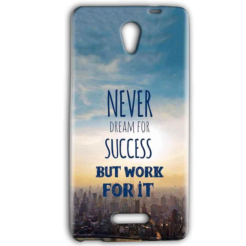 Gionee Marathon M4 Mobile Covers Cases Never Dreams For Success But Work For It Quote - Lowest Price - Paybydaddy.com