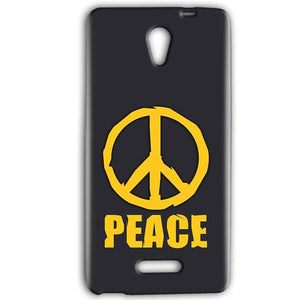 Gionee Marathon M4 Mobile Covers Cases Peace Blue Yellow - Lowest Price - Paybydaddy.com
