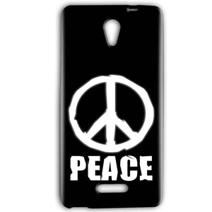 Gionee Marathon M4 Mobile Covers Cases Peace Sign In White - Lowest Price - Paybydaddy.com