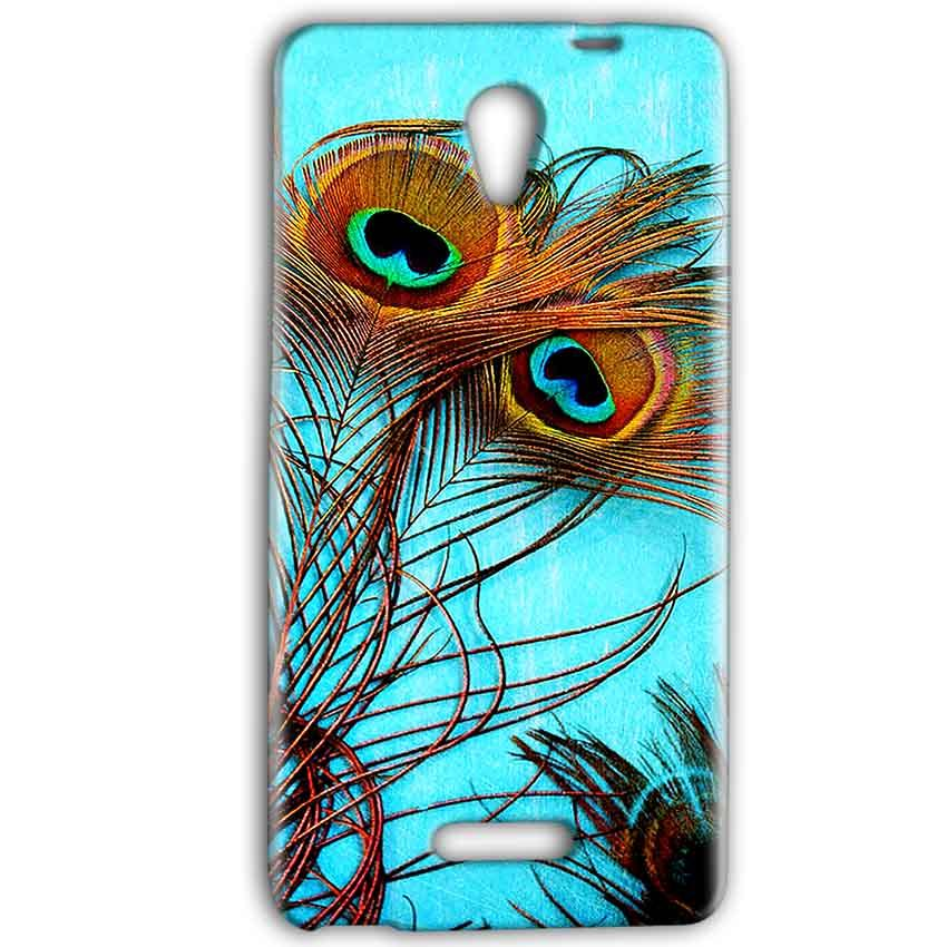 Gionee Marathon M4 Mobile Covers Cases Peacock blue wings - Lowest Price - Paybydaddy.com