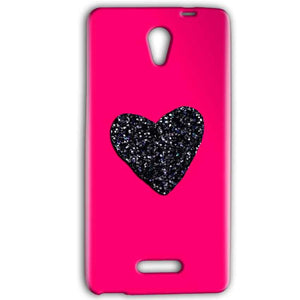 Gionee Marathon M4 Mobile Covers Cases Pink Glitter Heart - Lowest Price - Paybydaddy.com
