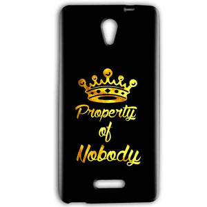 Gionee Marathon M4 Mobile Covers Cases Property of nobody with Crown - Lowest Price - Paybydaddy.com