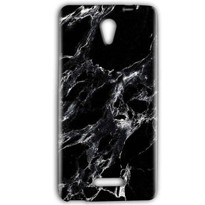 Gionee Marathon M4 Mobile Covers Cases Pure Black Marble Texture - Lowest Price - Paybydaddy.com
