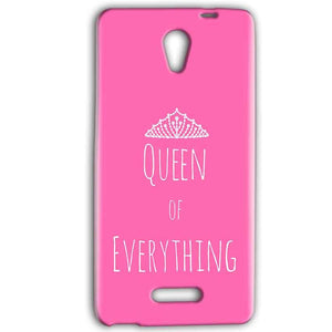 Gionee Marathon M4 Mobile Covers Cases Queen Of Everything Pink White - Lowest Price - Paybydaddy.com