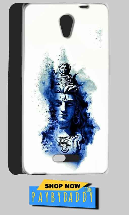 Gionee Marathon M4 Mobile Covers Cases Shiva Blue White - Lowest Price - Paybydaddy.com