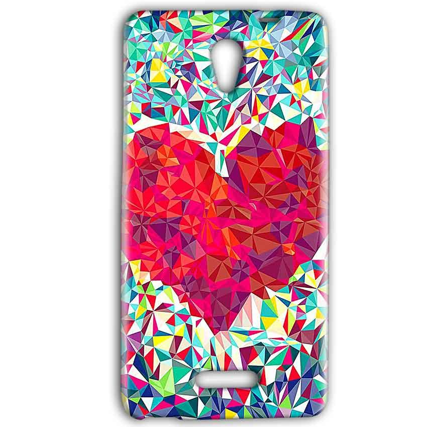 Gionee Marathon M4 Mobile Covers Cases heart Prisma design - Lowest Price - Paybydaddy.com