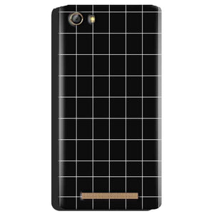 Gionee Marathon M5 Mobile Covers Cases Black with White Checks - Lowest Price - Paybydaddy.com