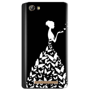 Gionee Marathon M5 Mobile Covers Cases Butterfly black girl - Lowest Price - Paybydaddy.com