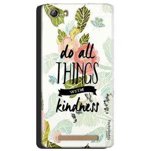 Gionee Marathon M5 Mobile Covers Cases Do all things with kindness - Lowest Price - Paybydaddy.com