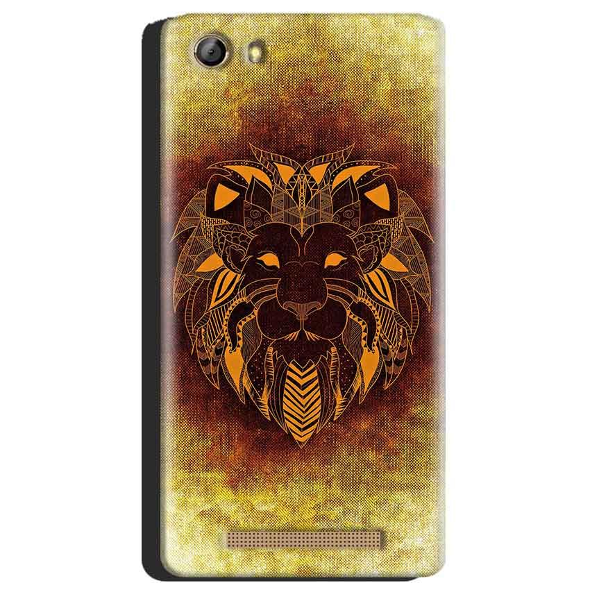 Gionee Marathon M5 Mobile Covers Cases Lion face art - Lowest Price - Paybydaddy.com