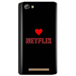 Gionee Marathon M5 Mobile Covers Cases NETFLIX WITH HEART - Lowest Price - Paybydaddy.com