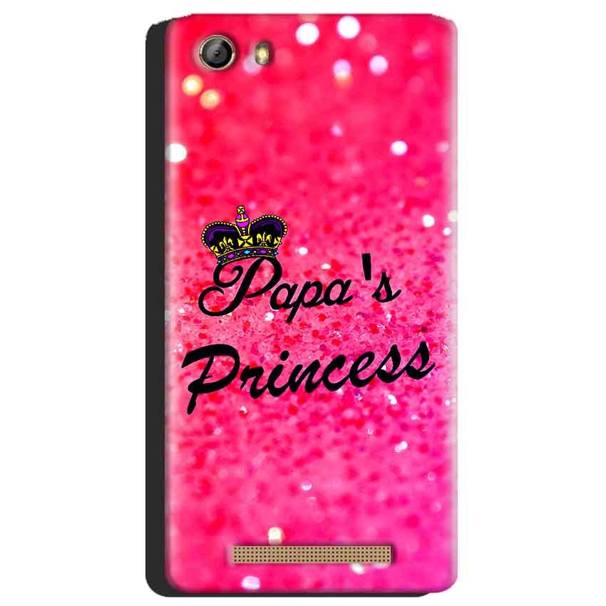 Gionee Marathon M5 Mobile Covers Cases PAPA PRINCESS - Lowest Price - Paybydaddy.com