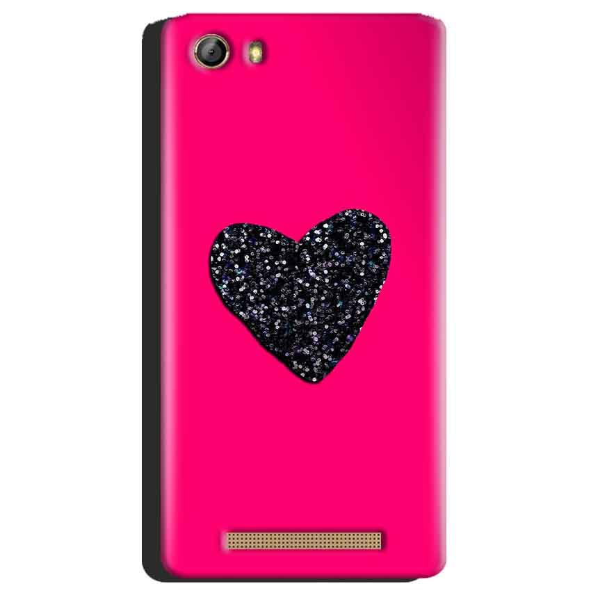 Gionee Marathon M5 Mobile Covers Cases Pink Glitter Heart - Lowest Price - Paybydaddy.com