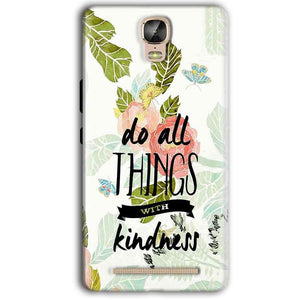 Gionee Marathon M5 Plus Mobile Covers Cases Do all things with kindness - Lowest Price - Paybydaddy.com
