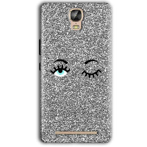 Gionee Marathon M5 Plus Mobile Covers Cases Glitter Eye Wink - Lowest Price - Paybydaddy.com