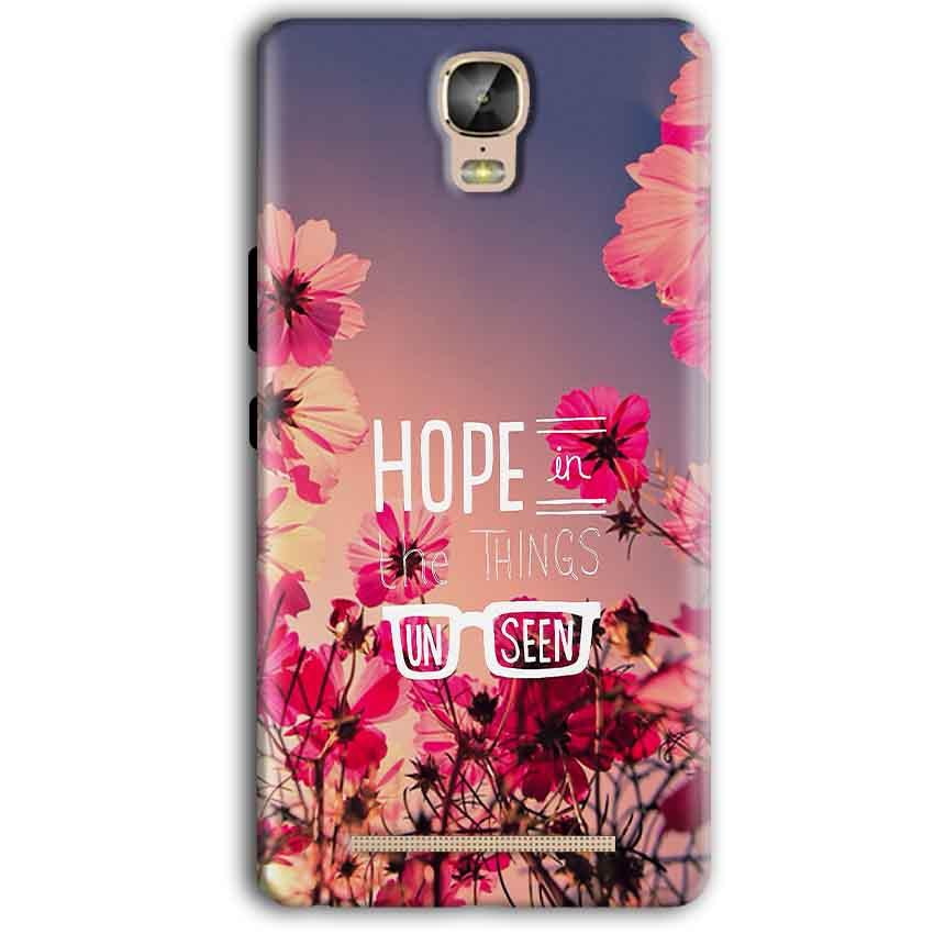 Gionee Marathon M5 Plus Mobile Covers Cases Hope in the Things Unseen- Lowest Price - Paybydaddy.com