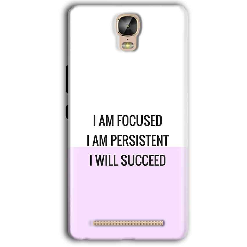 Gionee Marathon M5 Plus Mobile Covers Cases I am Focused - Lowest Price - Paybydaddy.com