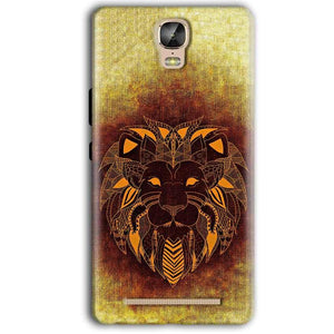 Gionee Marathon M5 Plus Mobile Covers Cases Lion face art - Lowest Price - Paybydaddy.com