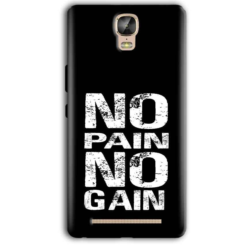 Gionee Marathon M5 Plus Mobile Covers Cases No Pain No Gain Black And White - Lowest Price - Paybydaddy.com