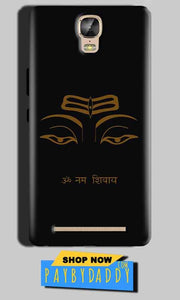 Gionee Marathon M5 Plus Mobile Covers Cases Om Namaha Gold Black - Lowest Price - Paybydaddy.com