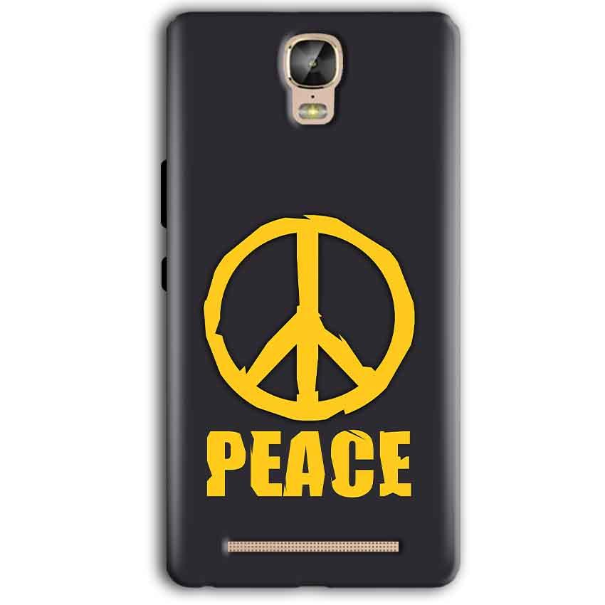 Gionee Marathon M5 Plus Mobile Covers Cases Peace Blue Yellow - Lowest Price - Paybydaddy.com
