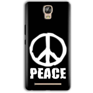 Gionee Marathon M5 Plus Mobile Covers Cases Peace Sign In White - Lowest Price - Paybydaddy.com