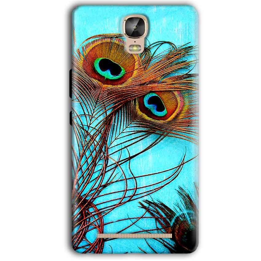 Gionee Marathon M5 Plus Mobile Covers Cases Peacock blue wings - Lowest Price - Paybydaddy.com