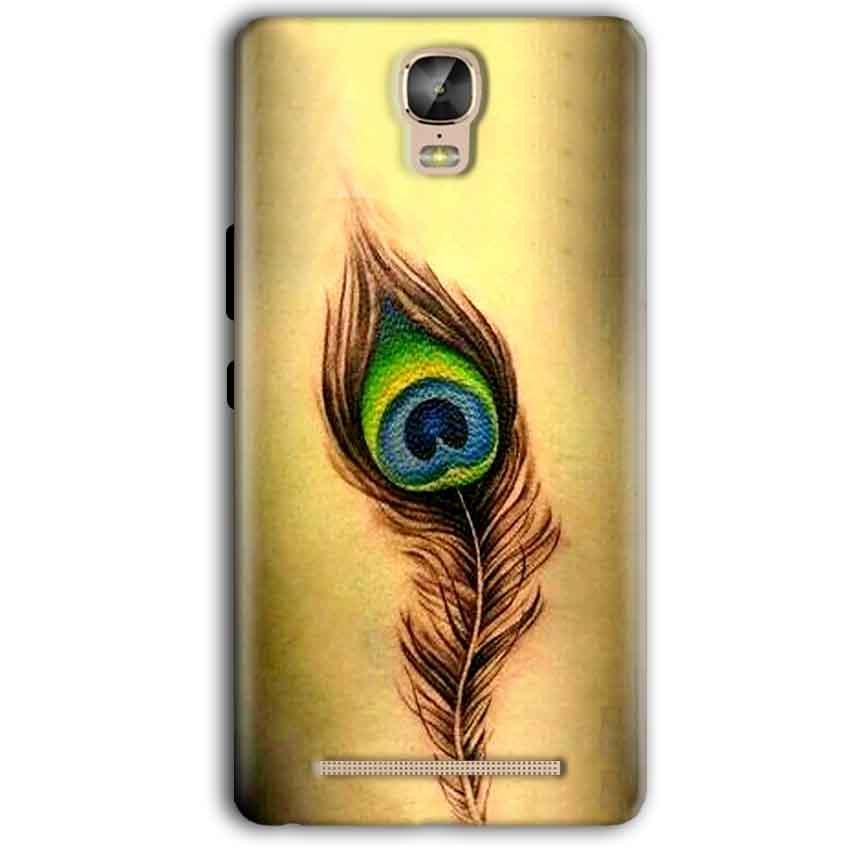 Gionee Marathon M5 Plus Mobile Covers Cases Peacock coloured art - Lowest Price - Paybydaddy.com