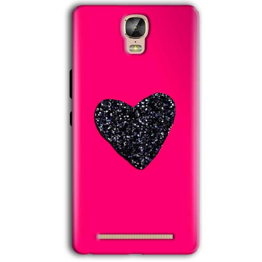 Gionee Marathon M5 Plus Mobile Covers Cases Pink Glitter Heart - Lowest Price - Paybydaddy.com