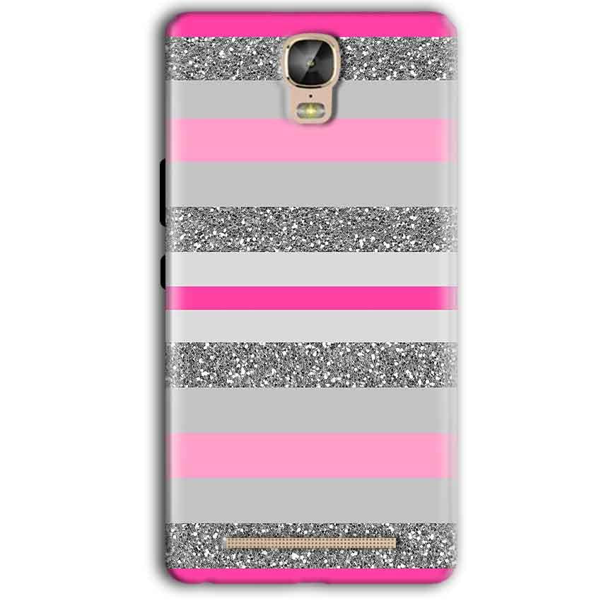 Gionee Marathon M5 Plus Mobile Covers Cases Pink colour pattern - Lowest Price - Paybydaddy.com