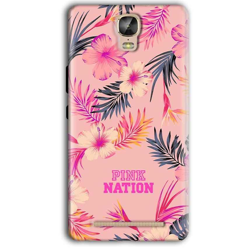 Gionee Marathon M5 Plus Mobile Covers Cases Pink nation - Lowest Price - Paybydaddy.com