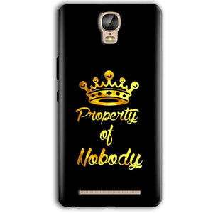 Gionee Marathon M5 Plus Mobile Covers Cases Property of nobody with Crown - Lowest Price - Paybydaddy.com