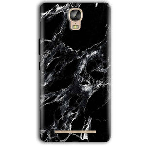 Gionee Marathon M5 Plus Mobile Covers Cases Pure Black Marble Texture - Lowest Price - Paybydaddy.com