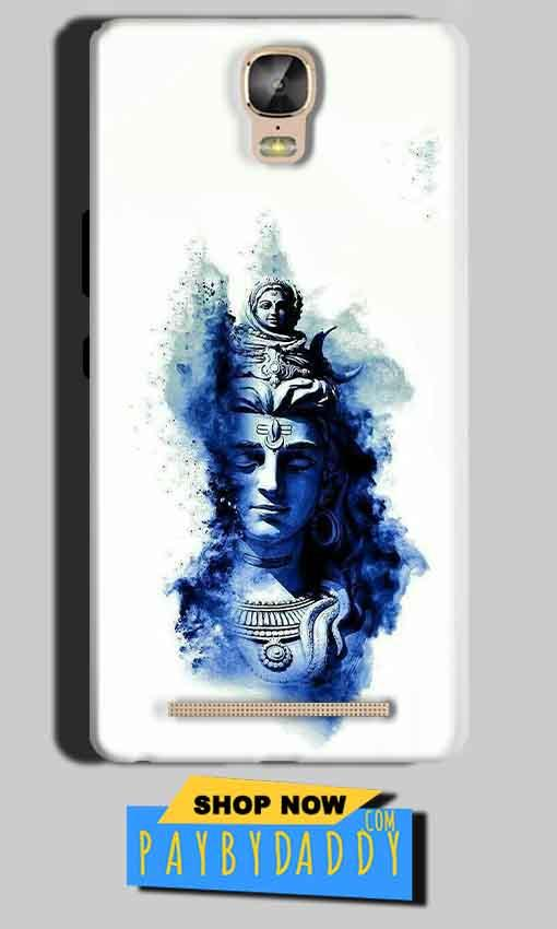 Gionee Marathon M5 Plus Mobile Covers Cases Shiva Blue White - Lowest Price - Paybydaddy.com