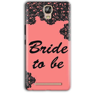 Gionee Marathon M5 Plus Mobile Covers Cases Mobile Covers Cases bride to be with ring Black Pink - Lowest Price - Paybydaddy.com