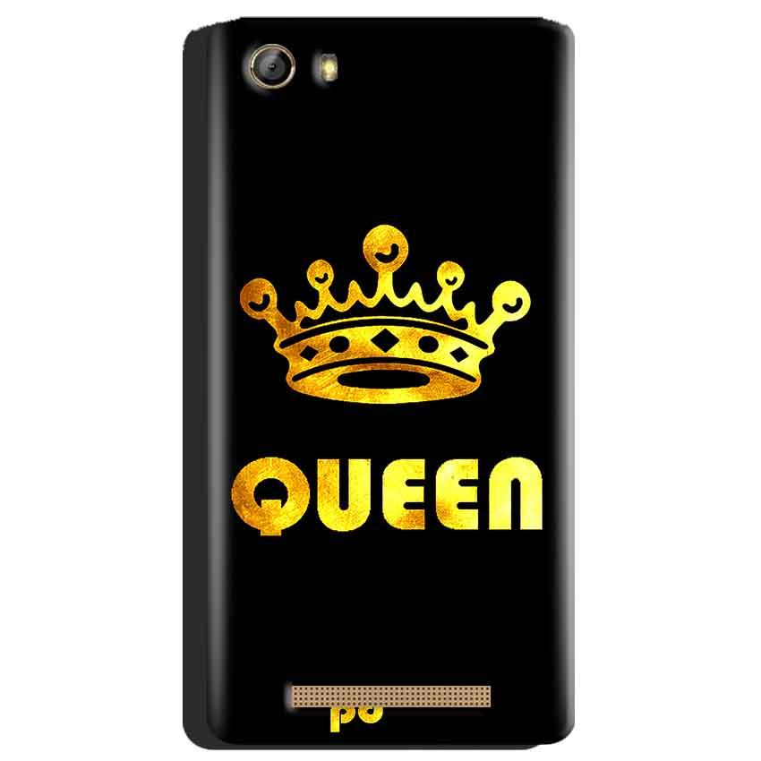Gionee Marathon M5 Mobile Covers Cases Queen With Crown in gold - Lowest Price - Paybydaddy.com