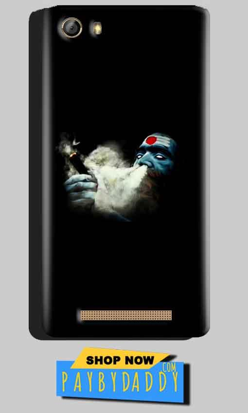 Gionee Marathon M5 Mobile Covers Cases Shiva Aghori Smoking - Lowest Price - Paybydaddy.com