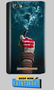 Gionee Marathon M5 Mobile Covers Cases Shiva Hand With Clilam - Lowest Price - Paybydaddy.com
