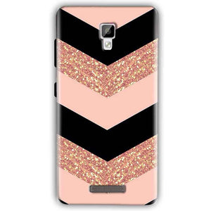 Gionee P7 Mobile Covers Cases Black down arrow Pattern - Lowest Price - Paybydaddy.com