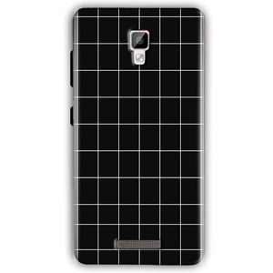Gionee P7 Mobile Covers Cases Black with White Checks - Lowest Price - Paybydaddy.com