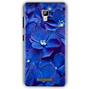 Gionee P7 Mobile Covers Cases Blue flower - Lowest Price - Paybydaddy.com